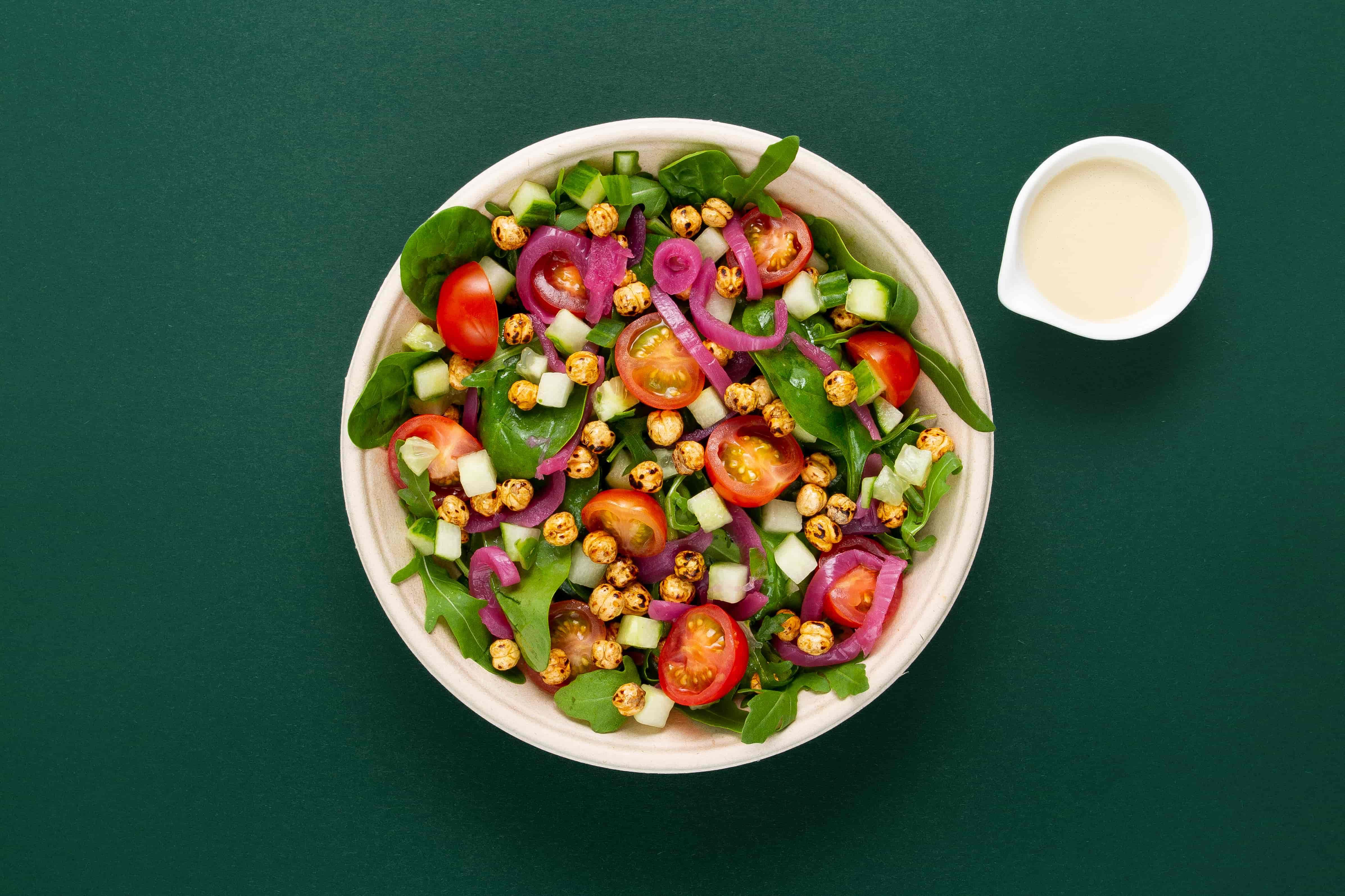 Crispy Pea & Tahini Salad