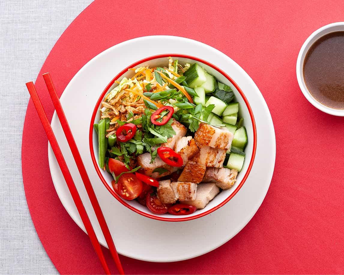 Mhu Bhing Pork Salad