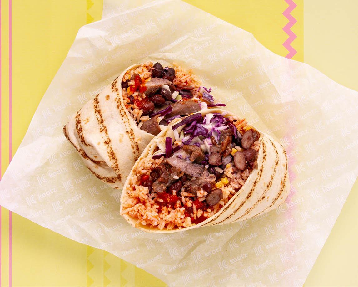 Gringo Marinated Beef Burrito